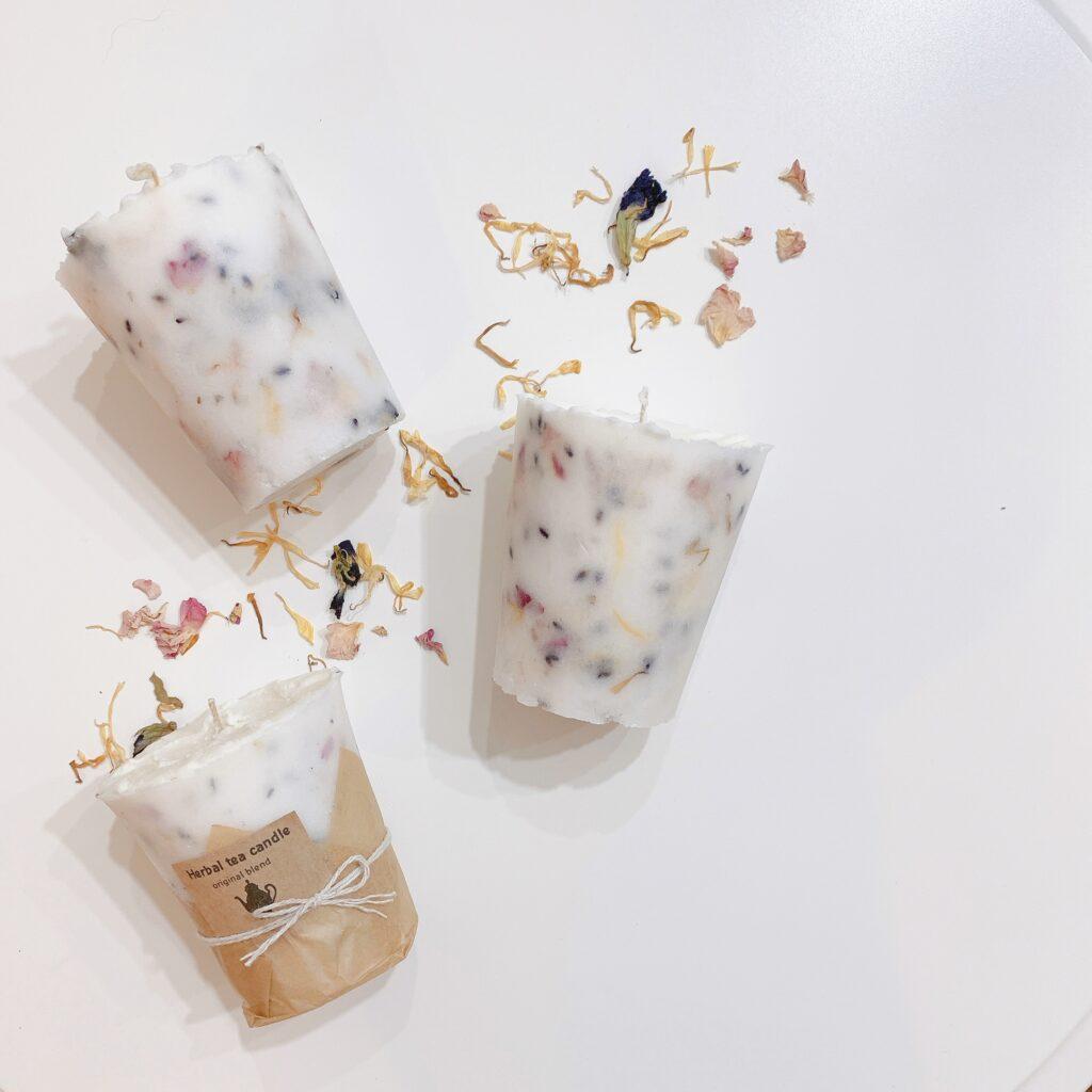 Herbal tea candle